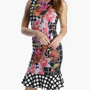 NWOT Joseph Ribkoff Floral Pattern Dress 12